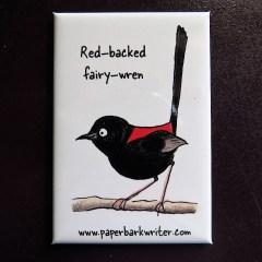 Red-backed Fairy-wren fridge magnet