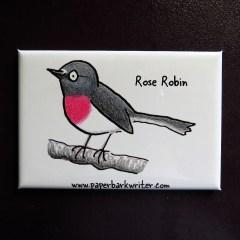 Rose Robin fridge magnet