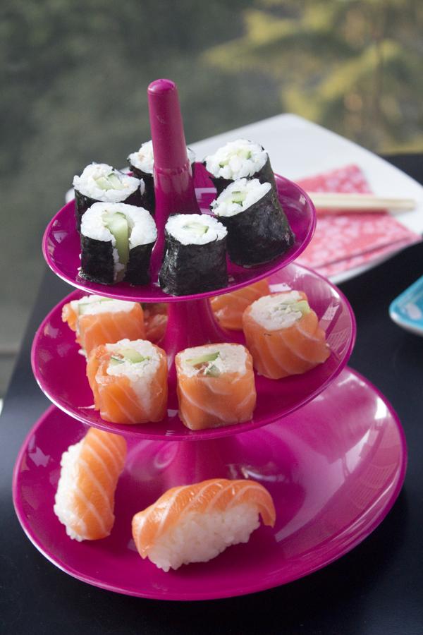 www.paperboat.fr japonais maki sushi koziol rose