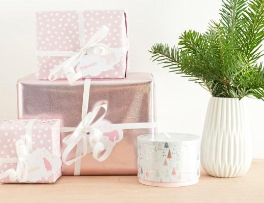 Étiquettes de Noël pastel à télécharger - www.paperboat.fr
