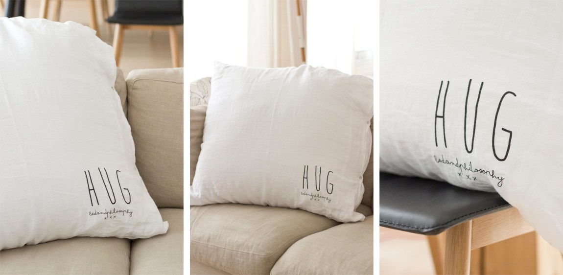 Coussin HUG - Bed and philosophy - www.paperboat.fr