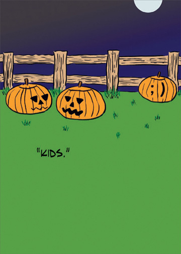 Kids Funny Humorous Halloween Card By Allport Editions