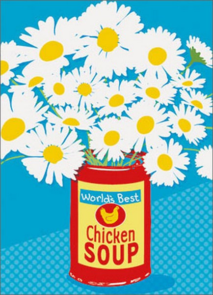 Soup Can Of Flowers APress Get Well Card By Avanti Press