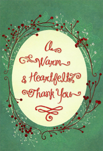Warm Heartfelt Package Of 8 Christmas Thank You Notes By