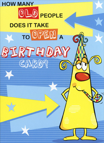 How Many Old People Funny Humorous Birthday Card By