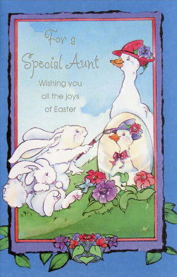 Mother Goose And Bunnies Aunt Easter Card By Freedom