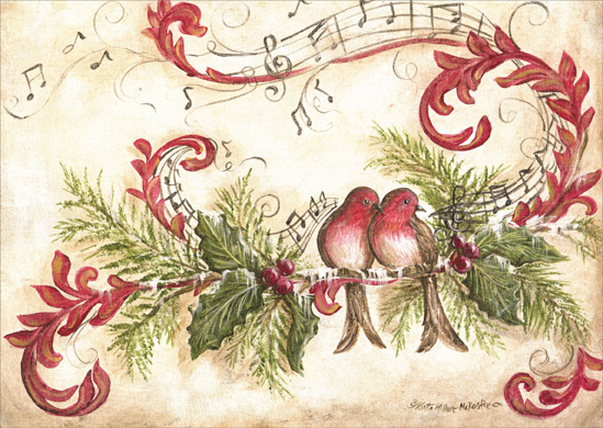 Vintage Song Birds LPG Greetings Christmas Card