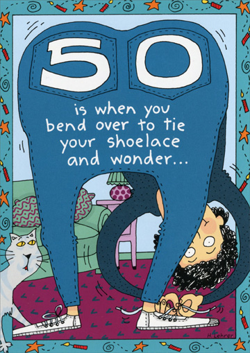 50 Is When You Funny Humorous 50th Birthday Card By