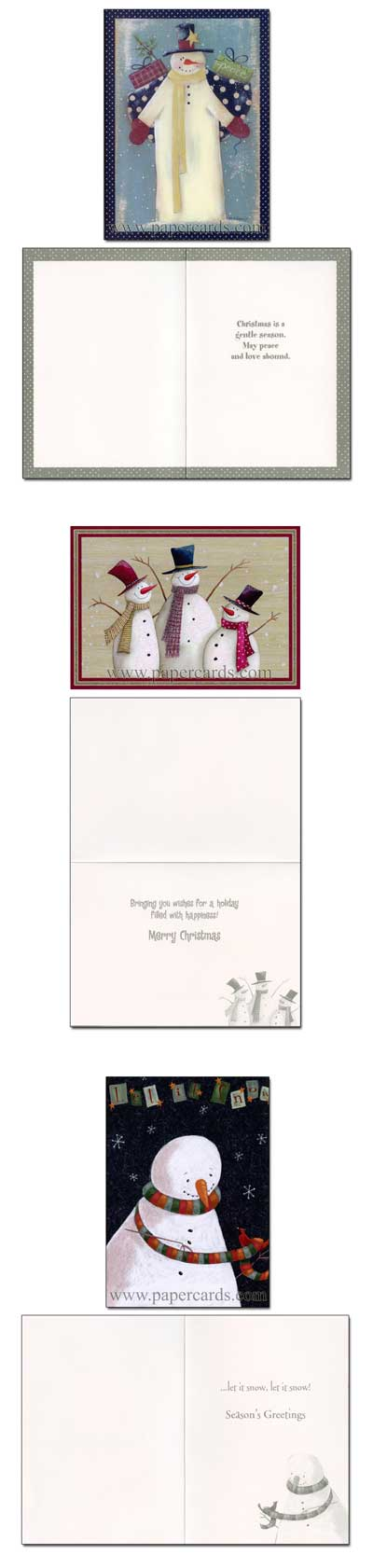 Let It Snow Keepsake Assortment Box Of 21 Christmas Cards