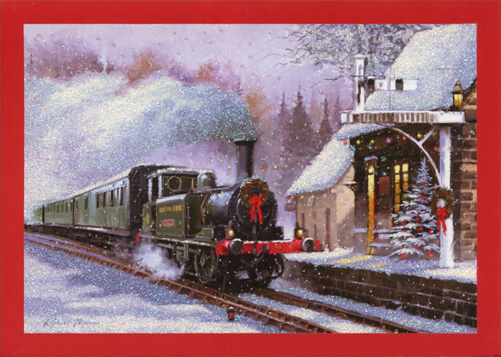 Train Christmas Card By Paper Magic