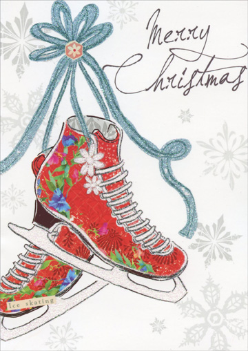 Ice Skates Christmas Card By Paper Magic