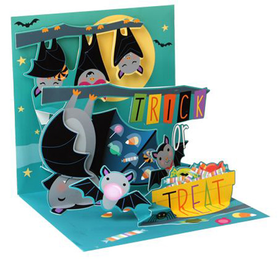 Candy Bats Pop Up Halloween Card By Up With Paper