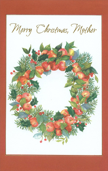 Wreath of Apples: Mother (1 card/1 envelope) Christmas ...