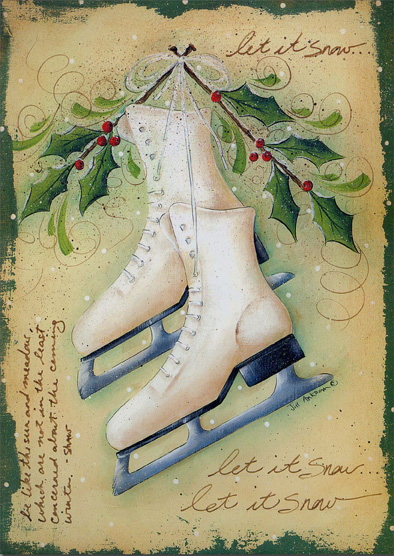 Ice Skates 1 Card1 Envelope Christmas Card From