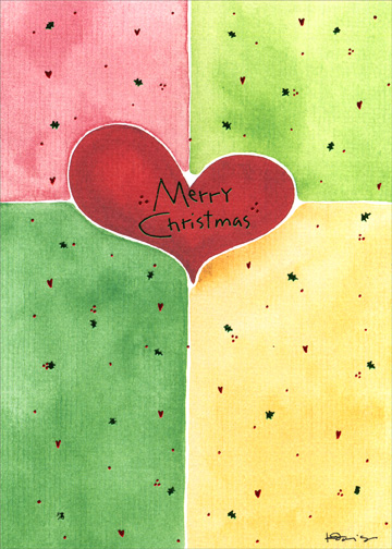 Hearts 1 Card1 Envelope Christmas Card From Curiosities