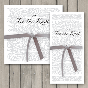 Elegance Wedding Invitations tied with ribbon