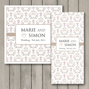 True Love Invite with Ribbon - DL and Square format