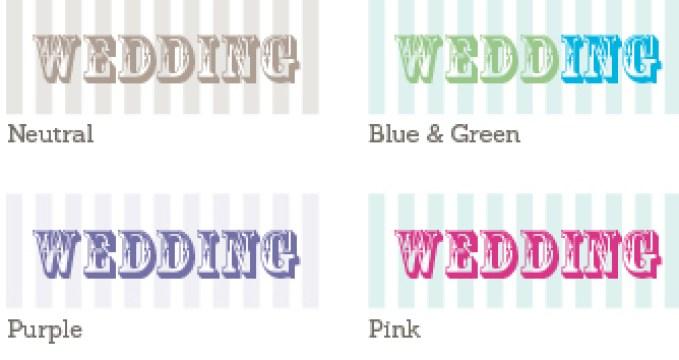 Carnival Wedding Sample Colours
