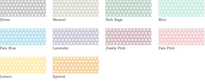 Dotty Wedding Sample Colours