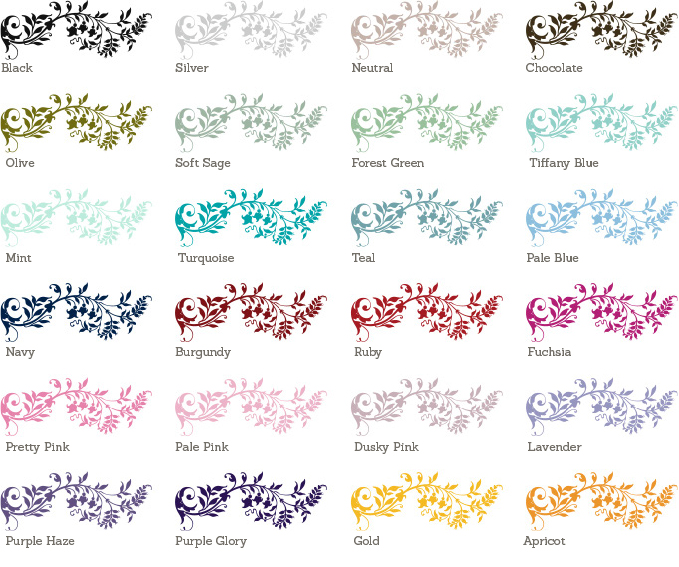 Flourish Sample Colours