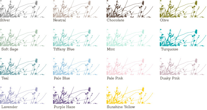 Summer Breeze Sample Colours