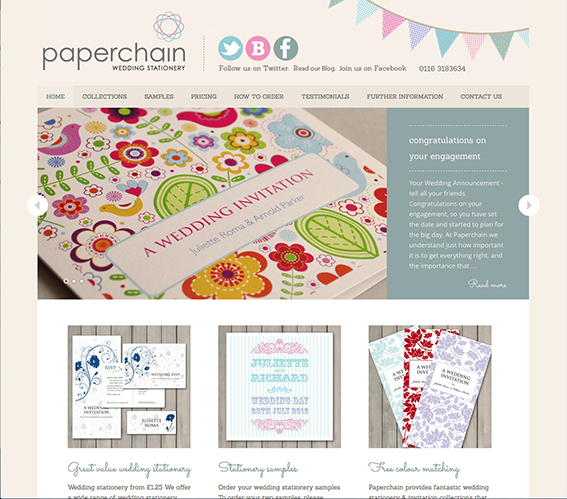 New Paperchain Wedding Stationery Website