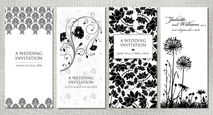 Black Wedding Stationery