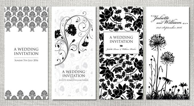 Black Wedding Stationery