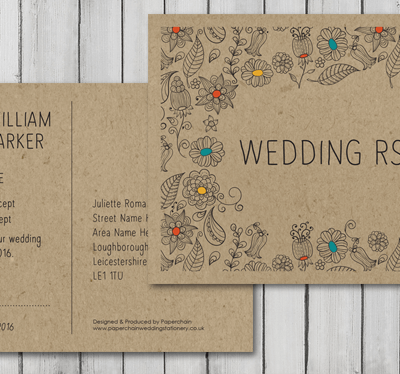 Great new eco friendly wedding stationery collection
