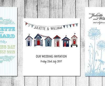 Beautiful Blue Wedding Stationery