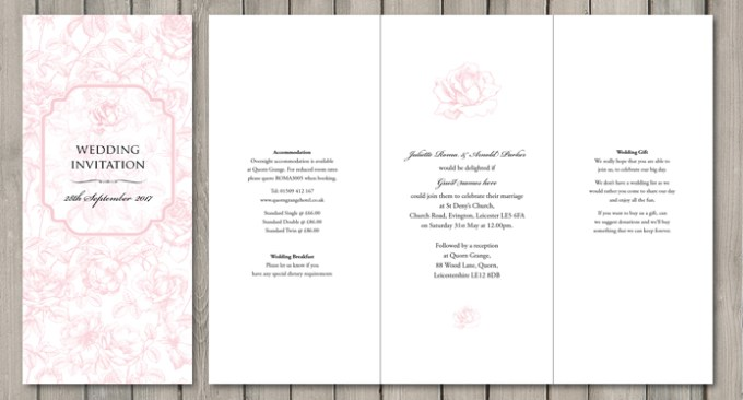 English Rose Wedding Stationery