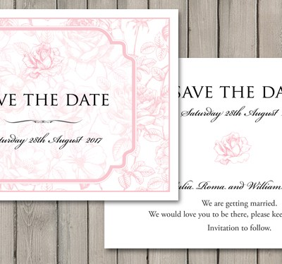 Our latest wedding stationery collection – English Rose