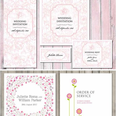 Pretty Pink Wedding Stationery