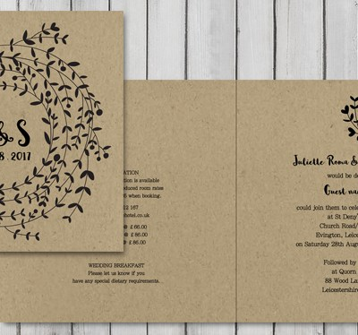 Wreath – our new wedding stationery collection