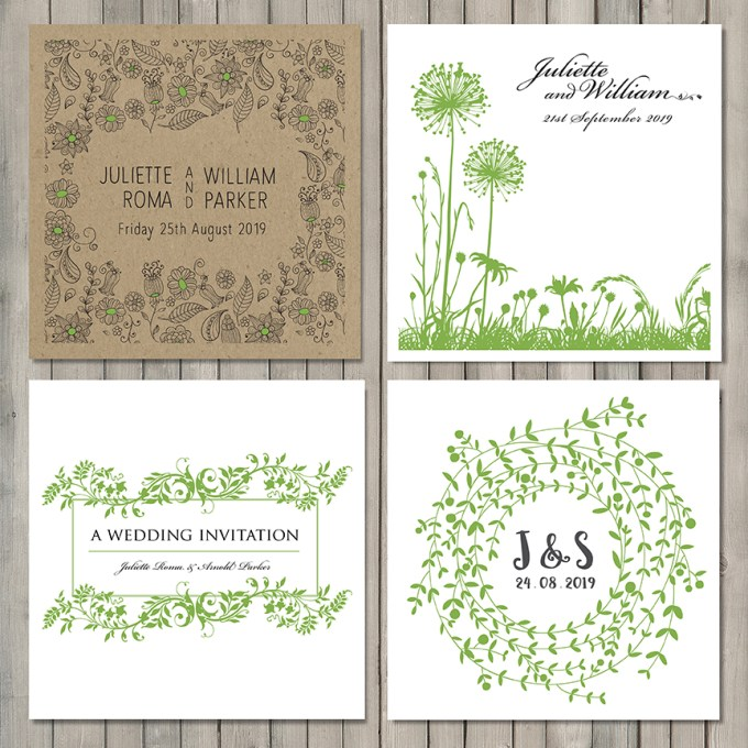 Greenery Wedding Stationery SM