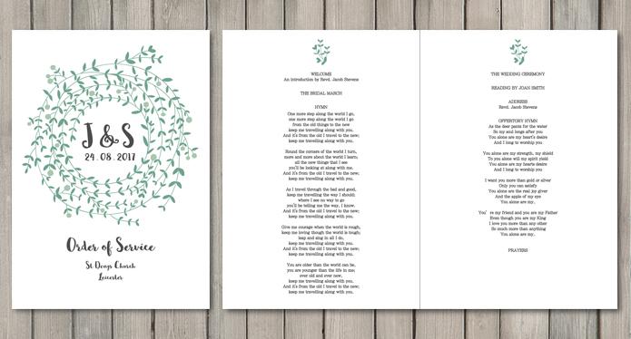Wreath White Wedding Stationery