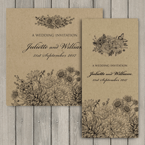 Eco friendly Botanical Garden wedding stationery