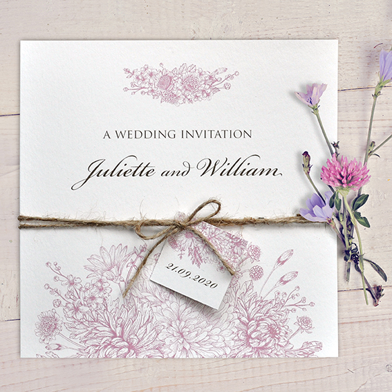 Botanitcal Gardens Dusky Pink Wedding Stationery