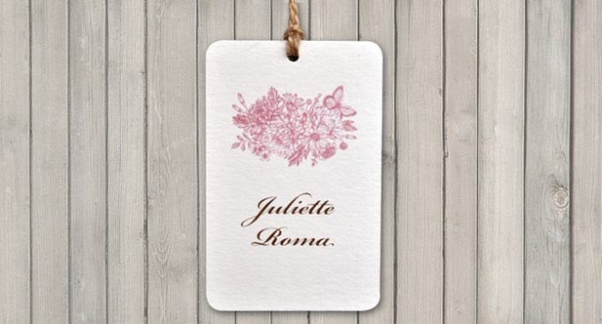 Botanical Garden White Wedding Tag