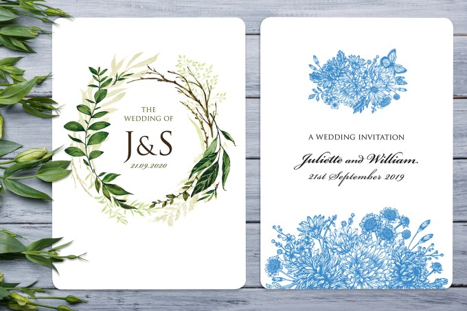 A5 Wedding Invites