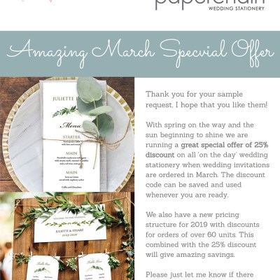 March Special Offer – don't miss out