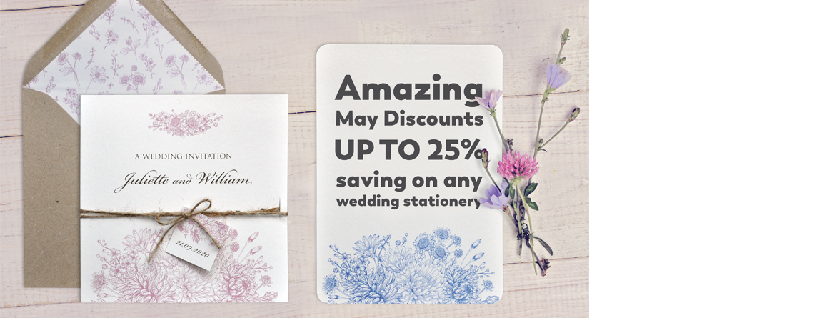 Huge wedding stationery discounts