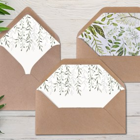 Wedding Invitation Envelope Liners