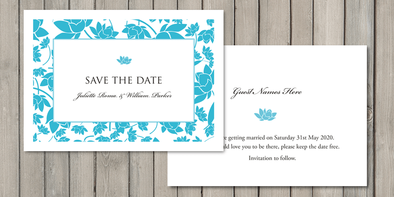 Florence wedding stationery save the date cards will let your guests know the date of your wedding.