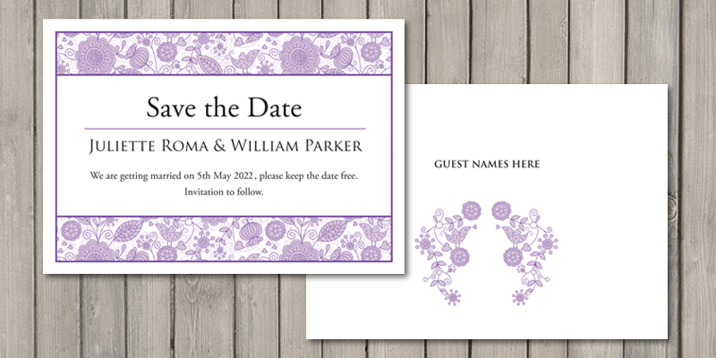 Save the date cards are the perfect start to your wedding stationery.