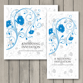 Romance wedding invitations