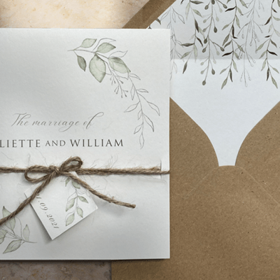 Why choose eco friendly wedding stationery?