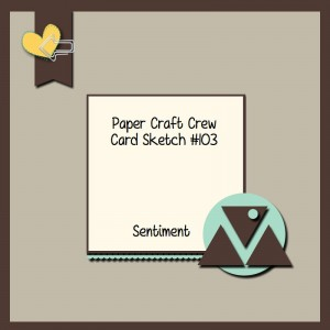 Paper Craft Crew Card Sketch #103