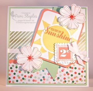 Paper Craft Crew Card Sketch #109 design team submission by Pam Staples. #stampinup #pamstaples #sunnygirlscraps