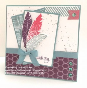 Paper Craft Crew Card Sketch #115 design team submission by Jan McQueen